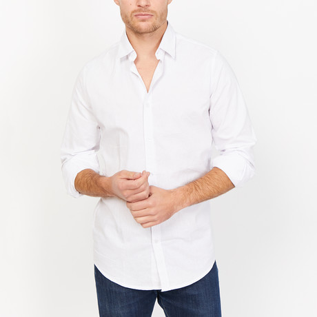St. Lynn // Saif Button Up // White (Large)