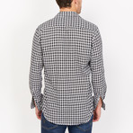 Baptise Button Up // Black-Blue + White Check (Medium)