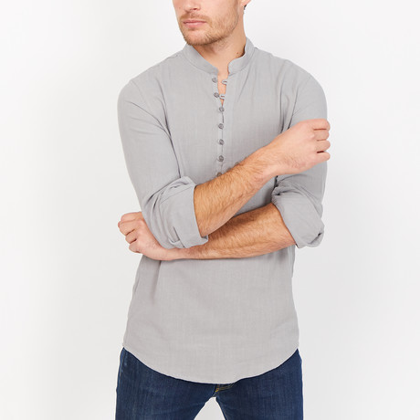 St. Lynn // Henry Button Up // Gray (Large)