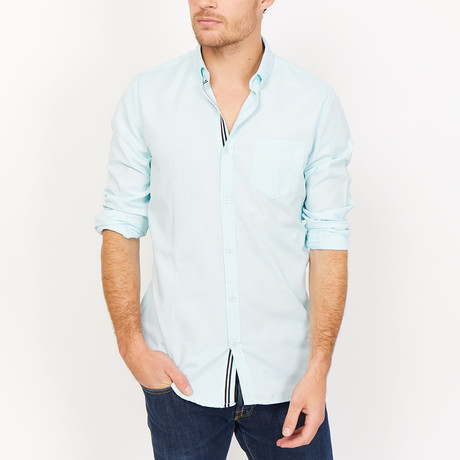 Pierre Button Up // Light Blue (X-Large)