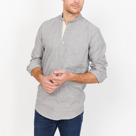 Abel Button Up // Blue Gray (X-Large)