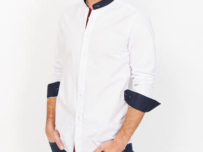 Photo of St. Lynn Organic Cotton Button Ups Milo Button Up // White (Small) by Touch Of Modern