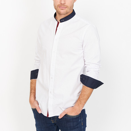 St. Lynn // Teo Button Up // White (Large)