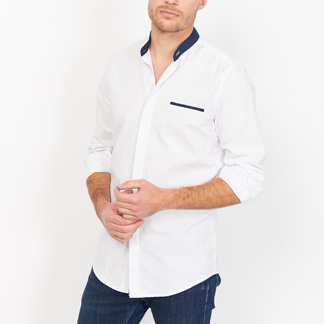St. Lynn // Tom Button Up // White (Small)