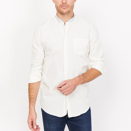 St. Lynn // Conor Button Up // White (Small)