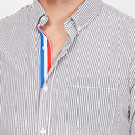Nicolas Button Up // Blue + Red + White (XX-Large)