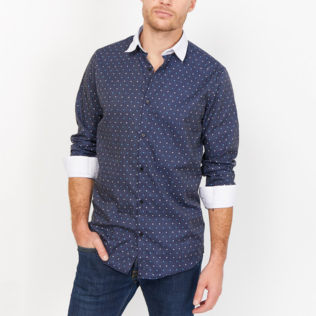 St. Lynn // Gary Button Up // Navy (2X-Large)