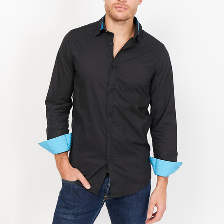 St. Lynn // Barnaby Button Up // Black (Medium)