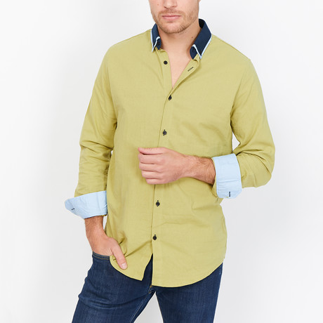 Federico Button Up // Green (Medium)