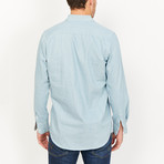 Edoardo Button Up // Denim Blue (Large)