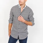 Samuele Checkered Button Up // Black (Large)