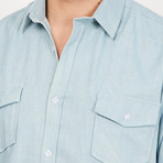 Edoardo Button Up // Denim Blue (Small)