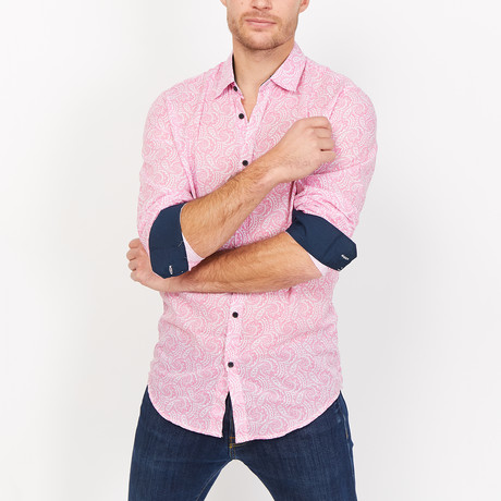 Diego Paisley Button Up // Pink (Small)