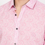 Diego Paisley Button Up // Pink (Large)