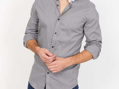 Photo of St. Lynn Organic Cotton Button Ups Simone Button Up // Slate Gray (Small) by Touch Of Modern