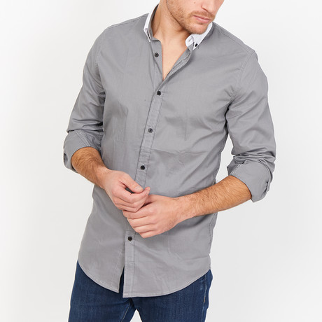 St. Lynn // Josiah Button Up // Slate Gray (Medium)