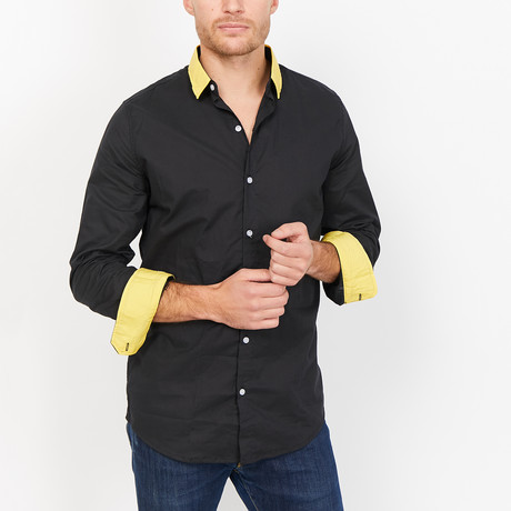 St. Lynn // Tyler Button Up // Black (Large)