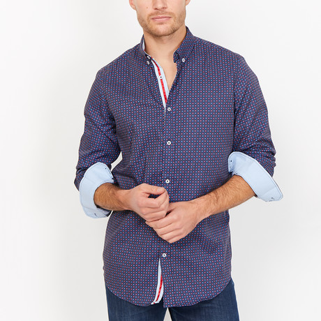 St. Lynn // Angus Button Up // Navy (Medium)