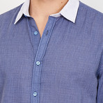 Samuel French Cuff Button Up // Blue + White (X-Large)