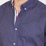 Luigi Button Up // Navy (X-Large)