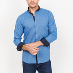 Nicola Martin Collard Button Up // Blue (X-Large)