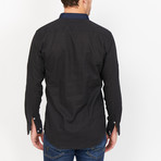 Dominic Collar Button Up // Black (Small)