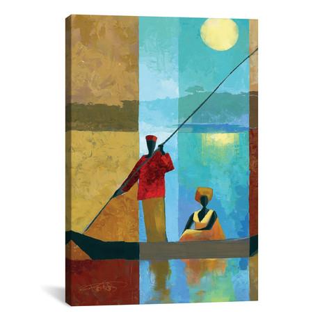 "On The River II // Keith Mallett (18""W x 26""H x 0.75""D)"