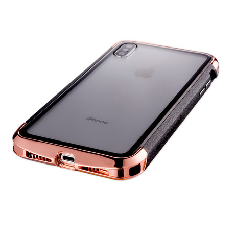 AERO Hybrid Metal + ABS Bumper Case // Polished Gold (iPhone XR)