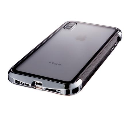 AERO Hybrid Metal + ABS Bumper Case // Polished Silver (iPhone XR)