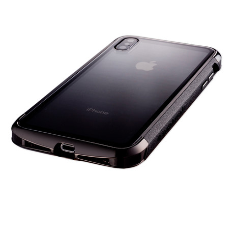 AERO Hybrid Metal + ABS Bumper Case // Polished Black (iPhone XR)