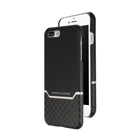 VENANO B Top Grain Leather Case // Meteor Black (iPhone 7/8)