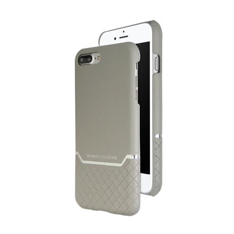 VENANO B Top Grain Leather Case // Elephant Grey (iPhone 7/8)