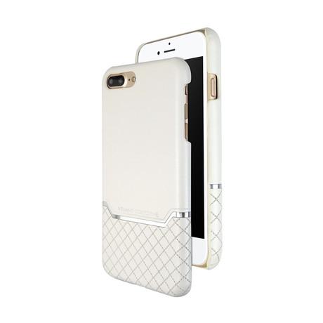 VENANO B Top Grain Leather Case // Pearl White (iPhone 7/8)