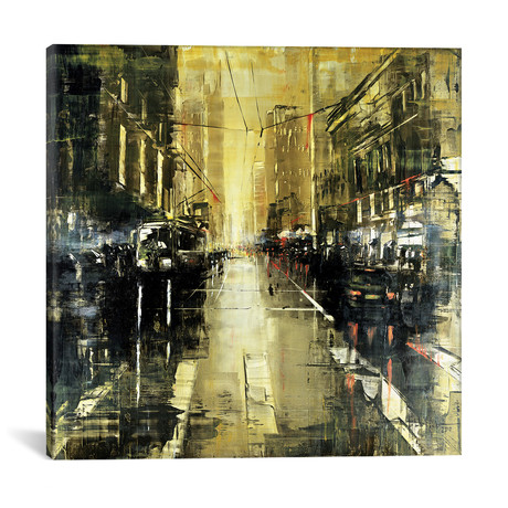 "Berlin Rainy Day I // Martin Koester (18""W x 18""H x 0.75""D)"