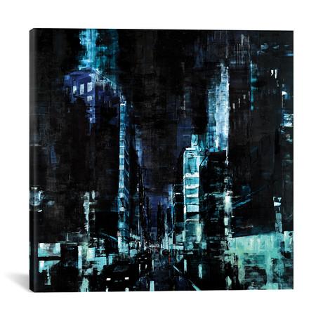 "Detroit at Night I // Martin Koester (18""W x 18""H x 0.75""D)"