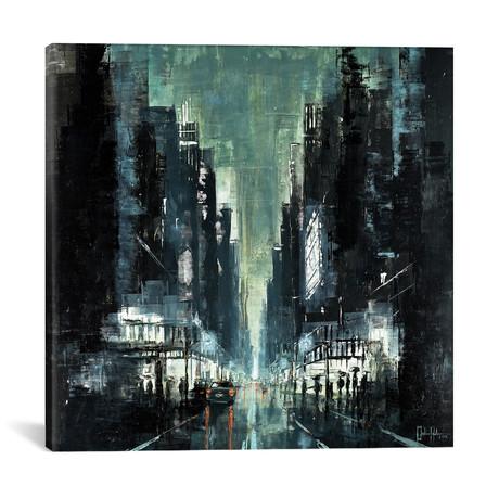 "New York Night III // Martin Koester (18""W x 18""H x 0.75""D)"