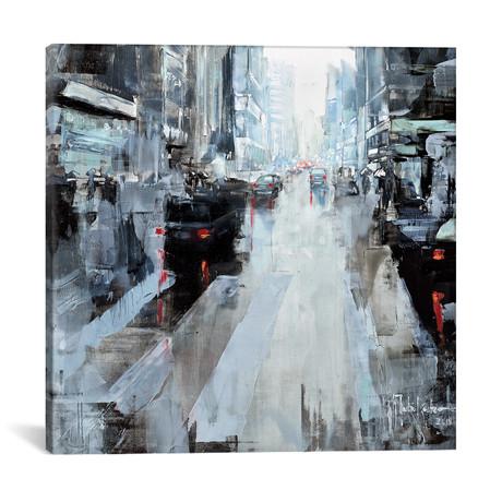 "New York Dark Noon III // Martin Koester (18""W x 18""H x 0.75""D)"