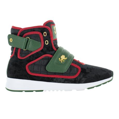 Atlas III Velvet Sneaker // Black + Green + Red (US: 7)