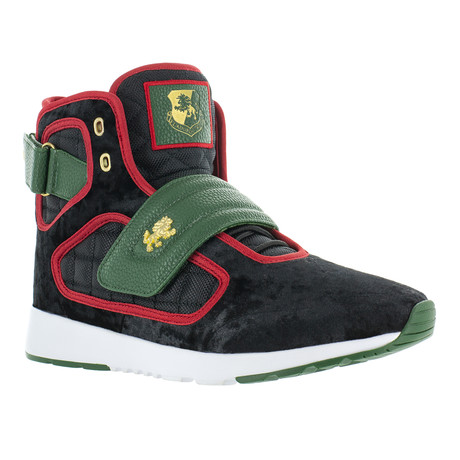 Atlas III Velvet Sneaker // Black + Green + Red (US: 7)