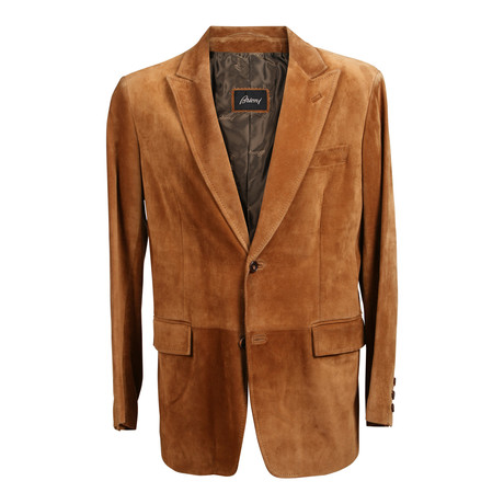 Suede Blazer Overcoat // Brown (XS)