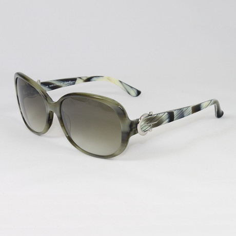 Women's SF613S-337 Sunglasses // Green Horn