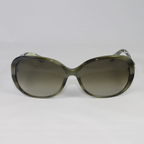 Womens SF613S-337 Sunglasses // Green Horn