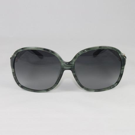 Womens SF646S-322 Sunglasses // Striped Green