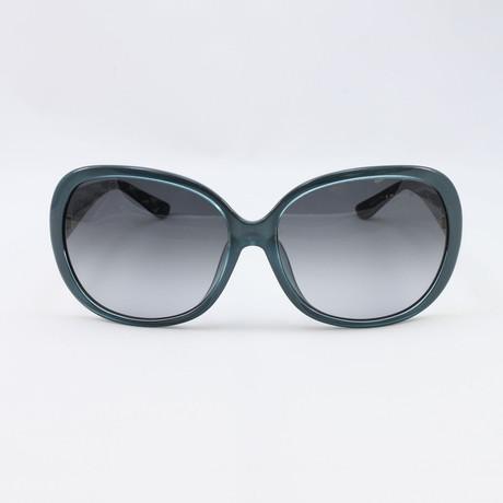 Womens SF655S-321 Sunglasses // Petrol Green
