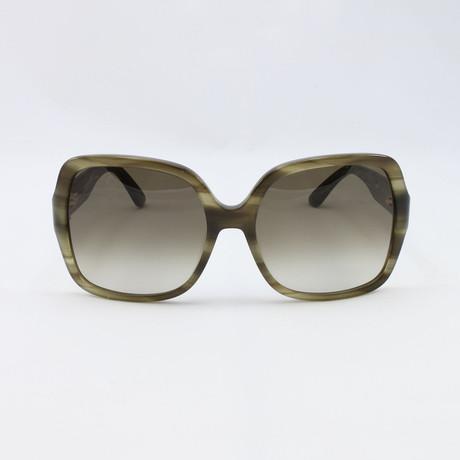 Womens SF659S-319 Sunglasses // Striped Khaki