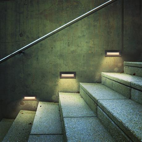 """39637BL LED // 8"""" 6-Watt Outdoor Steps Light"""