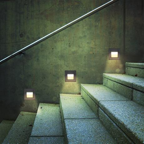 """55477BL LED // 3.5"""" 2-Watt Outdoor Steps Light"""