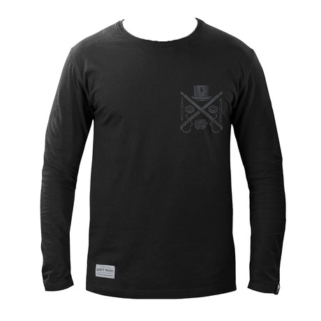 Crossed Pens Long Sleeve T-shirt // Rebel Black (XS)