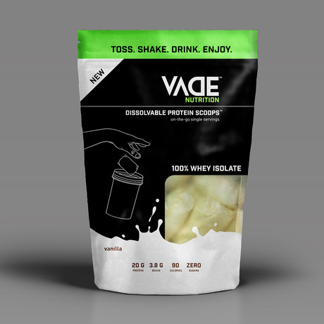 Vanilla // Whey Isolate Dissolvable Protein Scoops // 20 Servings