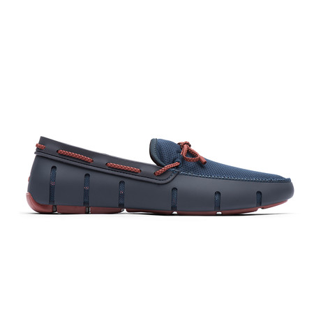 Braided Lace Loafer // Navy + Red Lacquer (US: 7)